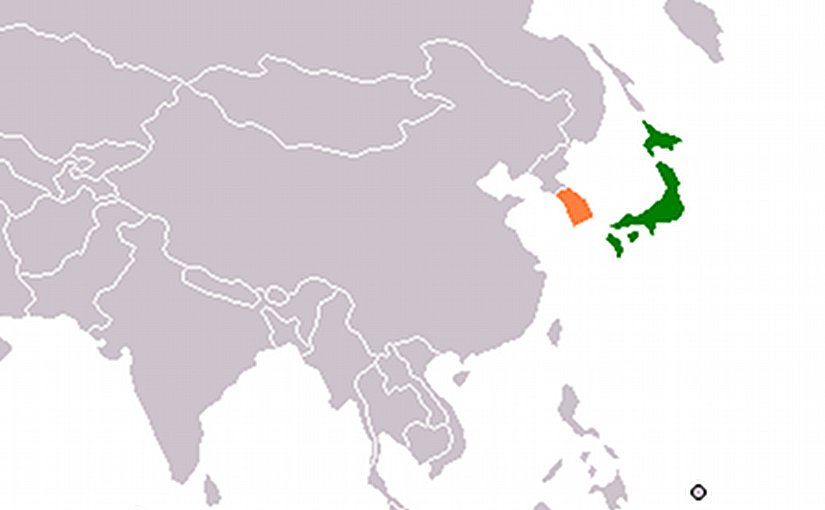Locations of Japan and South Korea. Source: Wikipedia Commons.