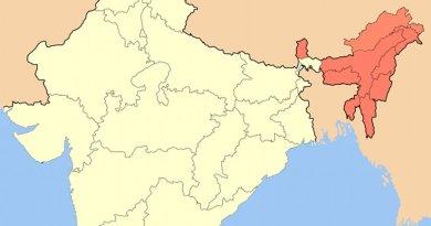 Northeast India. Source: Wikipedia Commons.