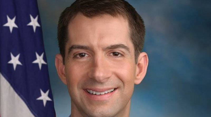 US Sen. Tom Cotton official photo. Source: WIkipedia Commons.