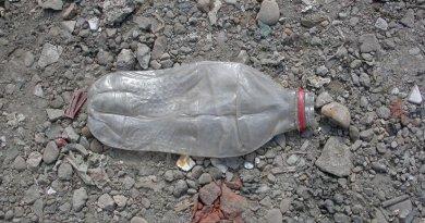 A future 'fossil': Keyworth plastic bottle