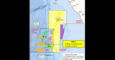 Location of Cairn wells offshore Senegal.