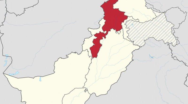 Location of Khyber Pakhtunkhwa within Pakistan. Source: Wikipedia Commons.