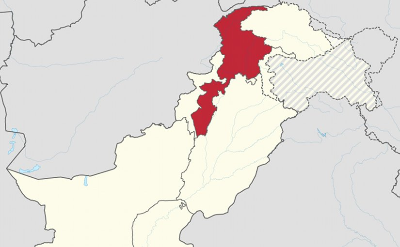 Location of Khyber Pakhtunkhwa within Pakistan. Source: Wikipedia Commons.