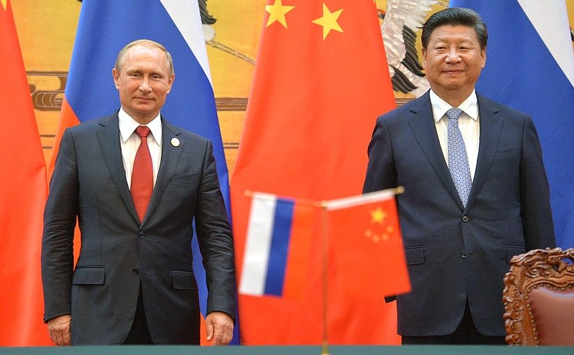 Russia's President Vladimir Putin meets with President of China Xi Jinping. Photo Credit: Kremlin.ru