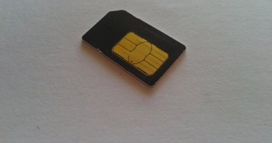 Mobile telephone SIM card