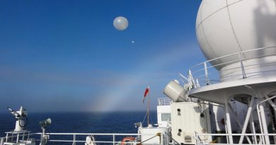 Radiosonde observations from RV Mirai over the ice-free Arctic Ocean. Credit: Jun Inoue