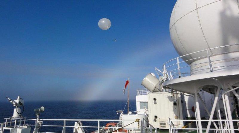 Radiosonde observations from RV Mirai over the ice-free Arctic Ocean. Credit: Jun Inoue