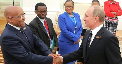 Russia's Vladimir Putin meets with South Africa's Jacob Zuma. Photo Credit: Kremlin.ru