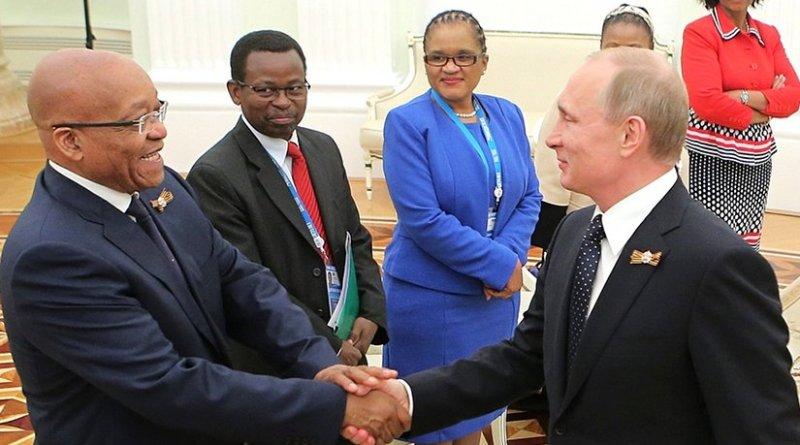 Russia's Vladimir Putin meets with South Africa's Jacob Zuma. Photo Credit: Kremlin.ru