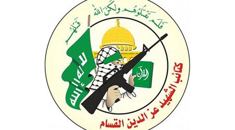 Logo for Hamas' Izziddin al-Qassam Brigades. Source: Wikipedia Commons.
