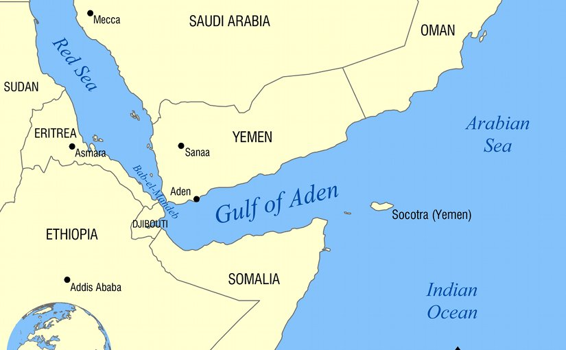 Gulf of Aden. Source: WIkipedia Commons.