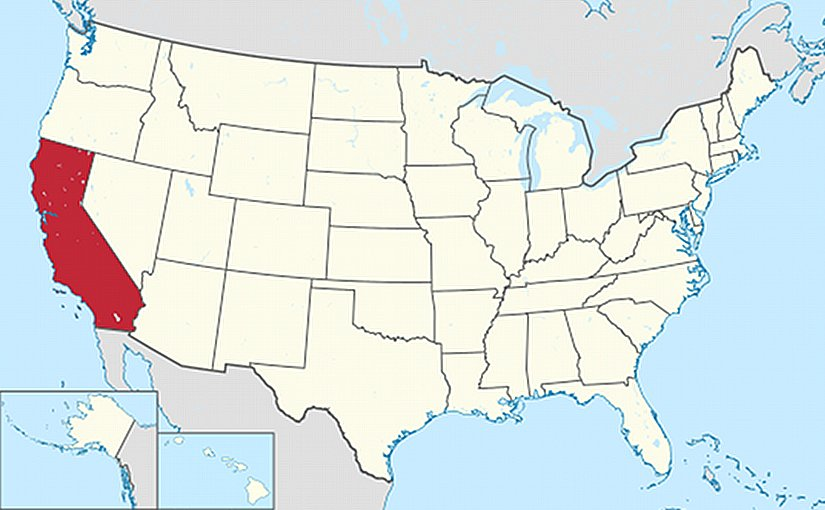 Location of California. Source: Wikipedia Commons.