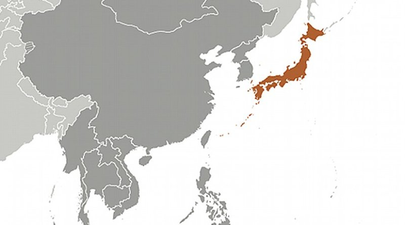 Location of Japan. Source: CIA World Factbook.