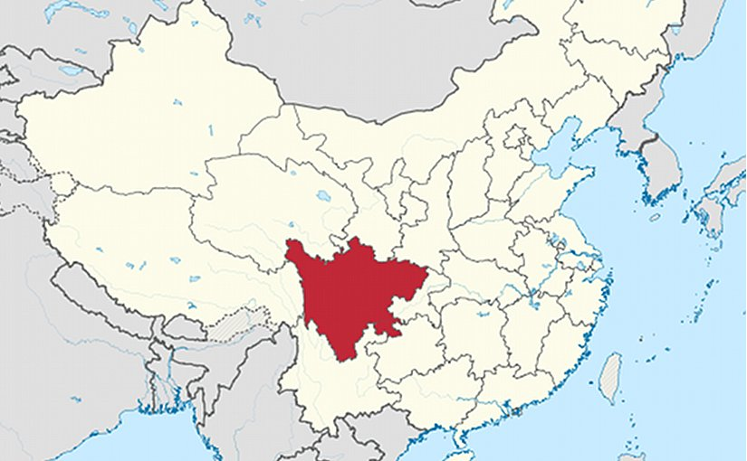 Location of Sichuan Province in China. Source: Wikipedia Commons.