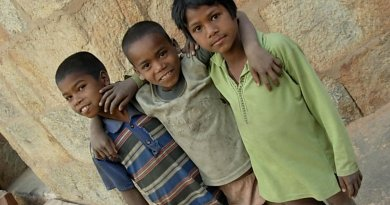 Children in India.