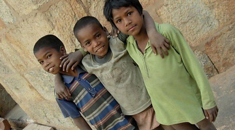 Children in India.