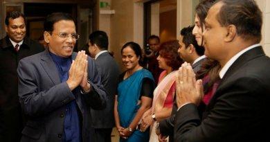Sri Lanka's President Maithripala Sirisena arrived at the Tegel Airport in Berlin. Photo Credit: Sri Lanka President's Office.