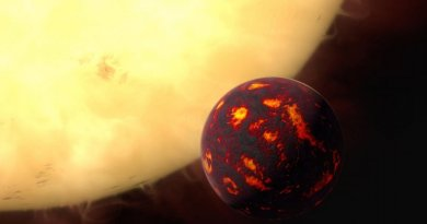 This is an artist's impression of 55 Cancri e from further away. Credit NASA/ESA Hubble Space Telescope