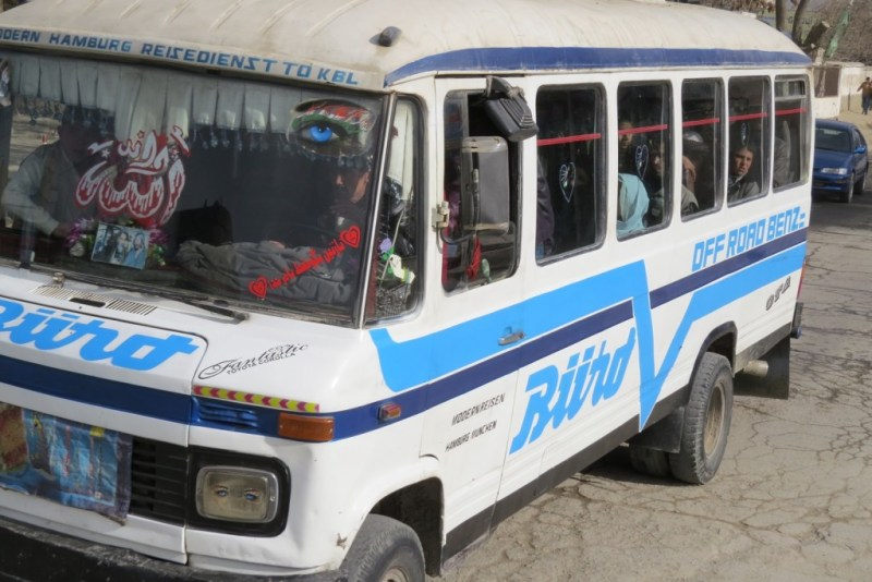 A Minibus in Kabul. Photo by Dr. Hakim.