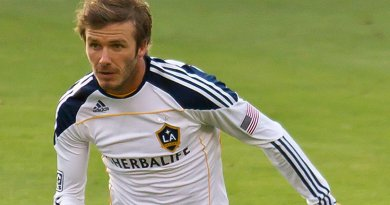 David Beckham with the LA Galaxy. Photo by Regular Daddy, Wikipedia Commons.