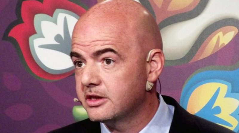 FIFA's Gianni Infantino. File photo by Piotr Drabik, Wikipedia Commons.