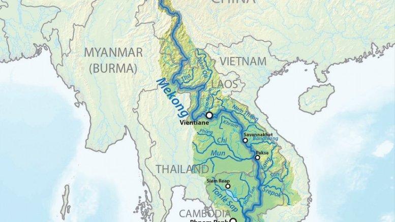 湄公河的支流。资料来源:维基百科共享。