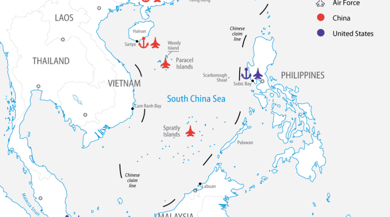 Naval and Air Bases in the South China Sea. Source: FPRI
