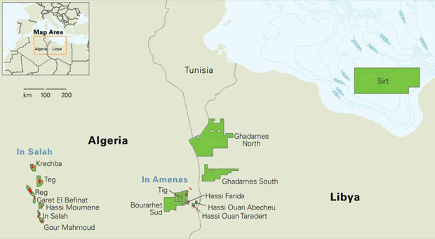 The In Amenas gas facility in Algeria  Source: BP