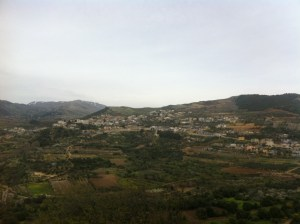The village of Ein Qiniyya (author's photo) via Syria Comment.