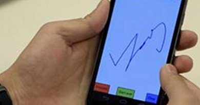 Doodling to log in to smartphones is faster, easier to remember and harder to hack than using text and PIN passwords, a Rutgers University study finds. Credit Cameron Bowman/Rutgers University