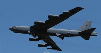 The B-52 Stratofortress -- a long-range, heavy bomber that can perform a variety of missions -- has been added to the U.S.-led-coalition's airstrike arsenal in the campaign to counter the Islamic State of Iraq and the Levant in Iraq and Syria. Air Force Maj. Gen. Peter E. Gersten, deputy commander for operations and intelligence for Operation Inherent Resolve, briefed Pentagon reporters April 26, 2016, about the accelerated counter-ISIL campaign. Air Force photo