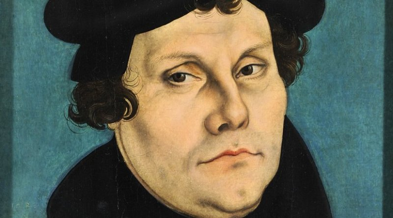 Martin Luther. Painting by Lucas Cranach the Elder.
