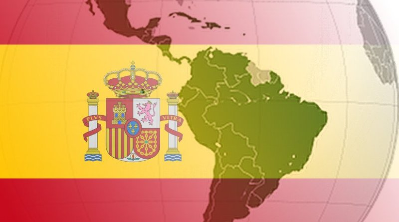 Spain's flag and Latin America