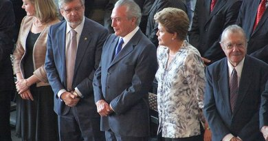 Brazil's President Dilma Rousseff and Vice-President Michel Temer. Photo by Anderson Riedel, Wikipedia Commons.
