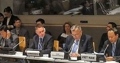 UNODC Executive Director Yury Fedotov, and Viet Nam Deputy Minister Le Quy Vuong co-chair UNGASS side event on the Mekong MOU. Credit: UNODC.