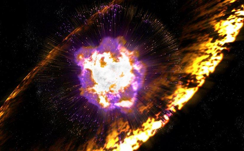 Artist's impression of supernova. Credit Greg Stewart, SLAC National Accelerator Lab