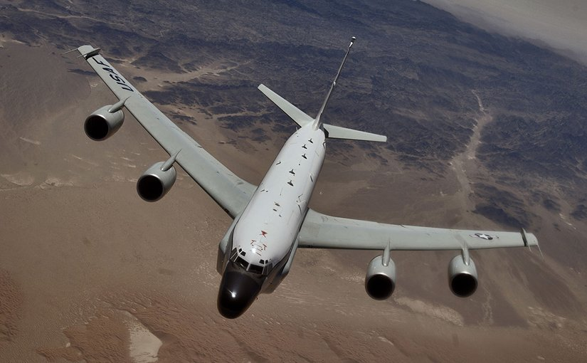 File photo of a US RC-135 Rivet Joint reconnaissance aircraft. U.S. Air Force photo by Master Sgt. Lance Cheung.