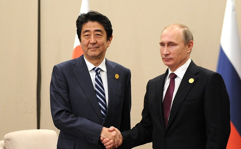 File photo of Japan's Prime Minister Shinzo Abe and Russia's President Vladimir Putin. Source: Kremlin.ru