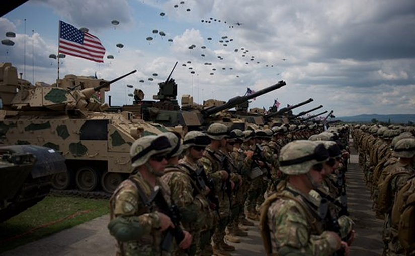 US troops participating in Noble Partner Drills in Georgia. Photo Credit: US Army.