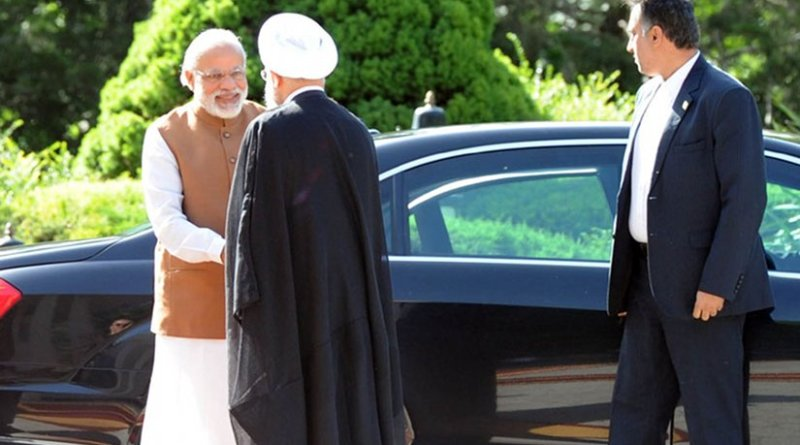 The Prime Minister, Shri Narendra Modi being received by the President of Iran, Mr. Hassan Rouhani, at his Ceremonial Welcome, at Saadabad Palace, in Tehran on May 23, 2016. Photo Credit: India PM Office.