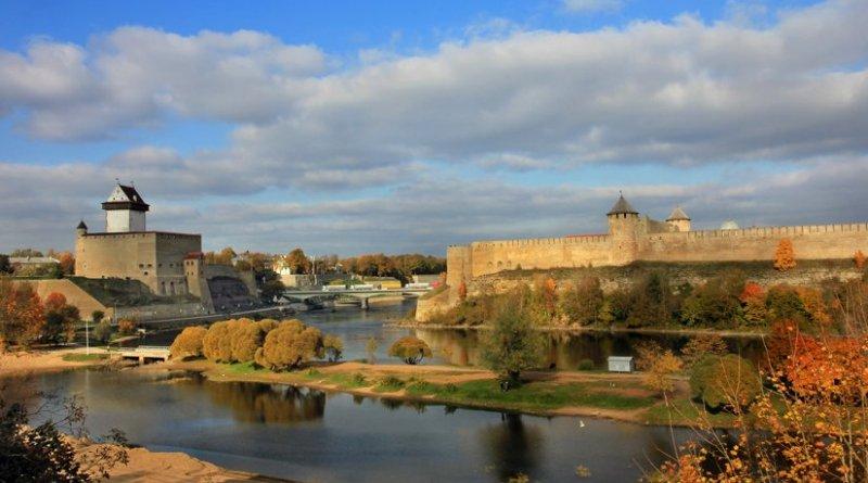 View of Narva, Estonia. Photo by Aleksander Kaasik, Wikipedia Commons.