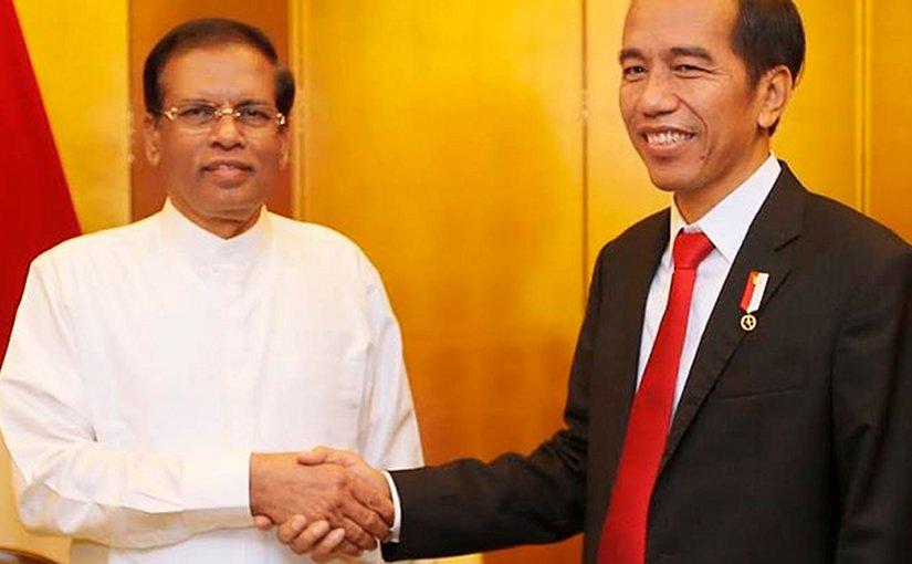 Sri Lanka President Sirisena Meets Indonesian President Widodo