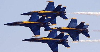 File photo of Blue Angels by Jon Sullivan, Wikipedia Commons.