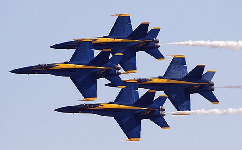 File photo of Blue Angels by Jon Sullivan, Wikipedia Commons.