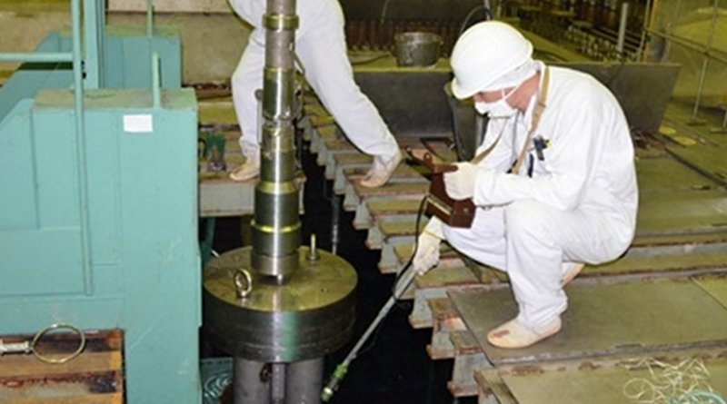 Removal of damaged used nuclear fuel from Chernobyl's unit 1 (Image: SSE ChNPP)
