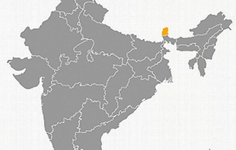 Locaation of Sikkim in India. Source: Wikipedia Commons.