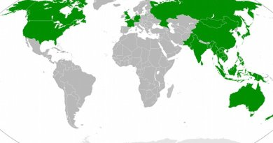 Countries participating in Shangri-La Dialogue. Source: Wikipedia Commons.