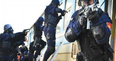 An anti-terrorist unit was deployed in Kotor, Montenegro on Monday. Photo:gov.me.