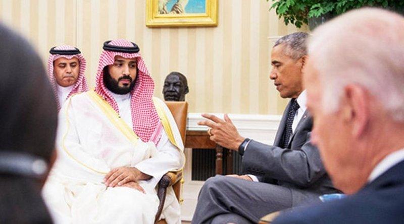 Saudi Arabia's Deputy Crown Prince Mohammed bin Salman meets with US President Barack Obama. Photo Credit: SPA