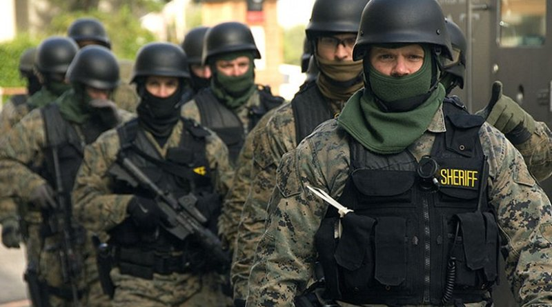SWAT Team members prepare for exercise. Photo Credit:Oregon Department of Transportation, Wikipedia Commons.